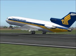 FS2004 Boeing 727-200 fsOC / Singapore Airlines image 2