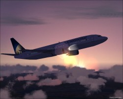 Fs2004 Default B737-400 Continental Airline image 1