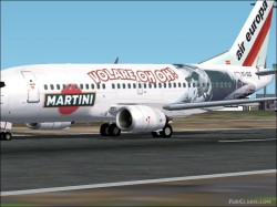 FS2004 Boeing 737-300 Air Europa Martini Model image 1