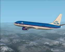 FS2002 Original Boeing 737-400 Klm Version image 1