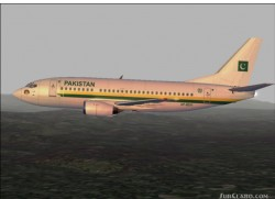 FS2002/FS2004 Airforce One Pakistan B737 image 1