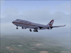 Fs2004 Boeing 747-400 Royal Air Maroc Mouline image 1
