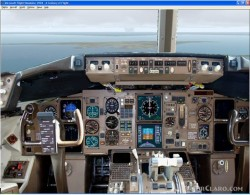 FS2004 Photoreal panel Boeing 757 image 1