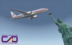 FSX American Airlines B777-200 RR repaint image 1