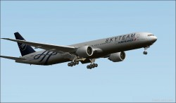 FS2004 Boeing 777-328ER Air France SkyTeam image 1