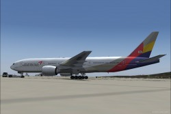 FS2004 Asiana Airlines Boeing 777-200 image 1