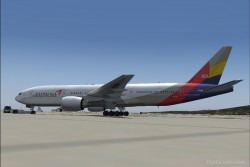 FS2004 Asiana Airlines Boeing 777-200 image 3