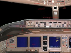 FS2002 Photorealistic panel boeing 777 image 1