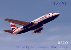 FS2002 British Airways Boeing 737-200 Flown image 1
