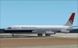 FS2002 707-320 British Airways Textures image 1