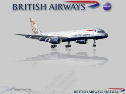 British airways 757-236 g-biky primavara world image 1
