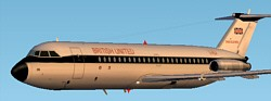 FS2002 British United Bac 1-11 201 image 1