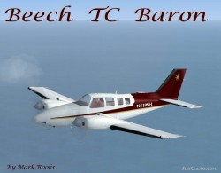 Beech Baron Converted Beech 58 TC flight image 1