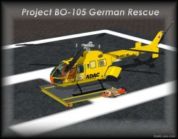 FsX Project BO-105 ADAC vers.1.1 with Virtual image 1