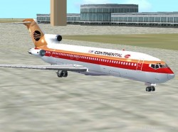 FS2002 - Continental 727-200 V3.0 - Updated And image 1