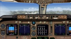FSX Boeing 747-400 Panel Wide image 1