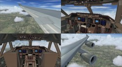 FSX Boeing 747-400 Panel Wide image 2