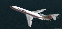FS2002 Boeing 727-200 Continental Airlines 1989 image 2