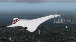 FSX Concorde Aircraft with Virtual Cockpit image 1
