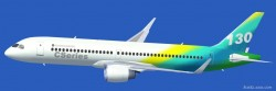 FSX Bombardier CSeries 130 standard version and image 1