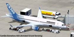 FSX Bombardier House Colors CSeries CS300 V2 image 3