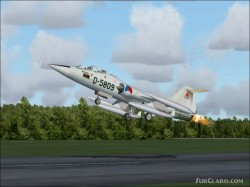 FS2004 repaint Grey Dutch TF-104G D-5809 image 1
