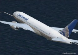 FSX Boeing 777-200ER Continental Airlines image 1
