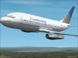 FS2002 Boeing 737-200 Continental image 1