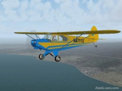 Piper Cub PA-11 N4971H Flight Passage and image 2