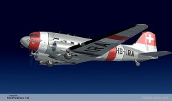 FSX DC-3 SWISS AIR LINES image 1