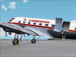 Fs2002 Douglas Dc-3 Cambrian Airways Update image 1