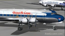 Fs2002 United Airlines Douglas Dc-4 With Two image 1