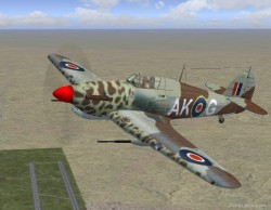 Hawker Hurricane special dessert camouflage image 1