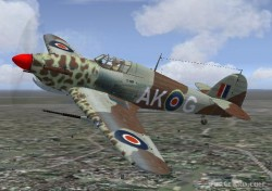 Hawker Hurricane special dessert camouflage image 2