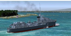 FS2004 Features Pilotable Destroyer HMS Lance image 3