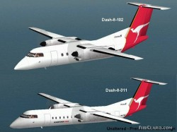 FS2000 deHavilland Dash8 Two Aircraft Package image 1