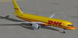 FSX DHL Boeing 757-236SF Repaint Posky image 2