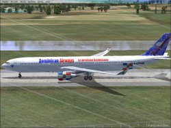 FS2004/FSX Dominican Airways A330 image 1