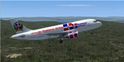 Dominicana airways Airbus A319 FSX image 1