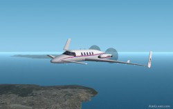 Fs2002 Eagle Air Charter Beech Starship image 1