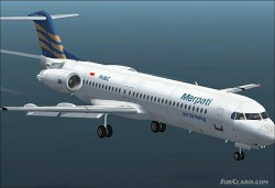 Project Fokker F100 Textures repaint Merpati image 1