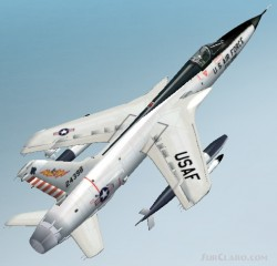 Fs2002/fs2004 Republic F-105d Thunderchief image 1
