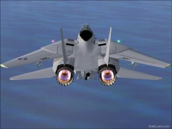 FS2004/FS9 FSX new afterburner effect F14D image 1
