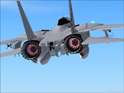 FS2004/FS9 FSX new afterburner effect F14D image 3