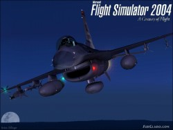 Flight Simulator 2004 Splash Screen With F-16 image 1