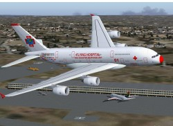 FS2004/FSX Airbus A380-Flying Hospital image 1