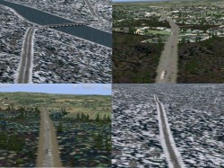 Flight Simulator 2004 Photo Roads Improved road image 1