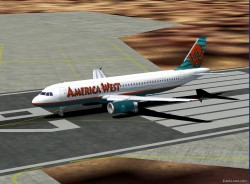 Fs2002 Airbus A320v25 America West Airlines image 1