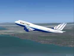 Fs painters boeing 747-400 united airlines image 1