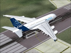 FS2002 Airbus A380-800 January 2005 Launch image 1